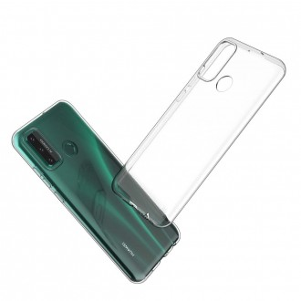 Akami Coque Huawei P Smart 2020, Housse de protection en silicone de haute qualité - Transparent