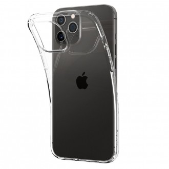 Spigen Coque pour iPhone 12 (6,1) en silicone transparent Liquid Crystal