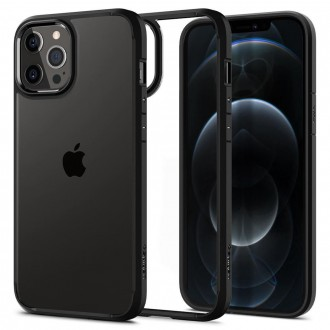 Spigen Coque iPhone 12 Pro (6,1) en polycarbonate et silicone noir mat Ultra Hybrid
