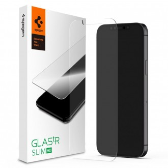 Spigen verre trempé pour iPhone 12 (6.1) Transparent dureté 9H GLAStR Slim HD