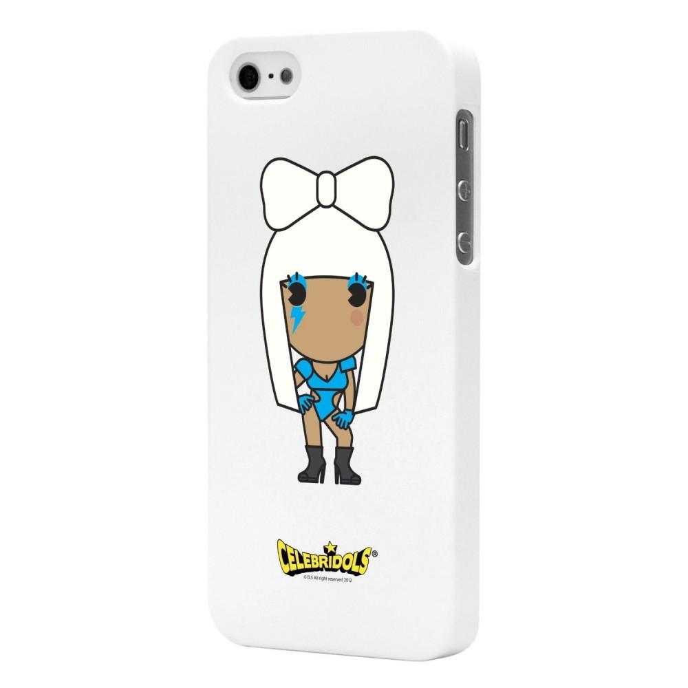 Coque Celebridols blanche Gaga pour Apple iPhone 5/5S