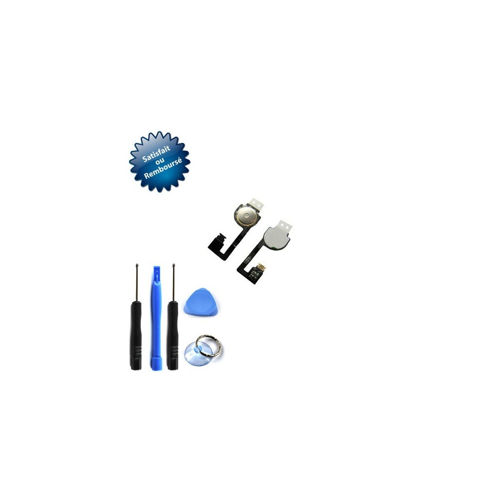 Nappe bouton home pour Apple iPhone 4 + outils + notice + torx