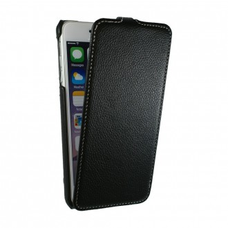Etui UltraSlim en simili cuir noir pour iPhone 6 Plus