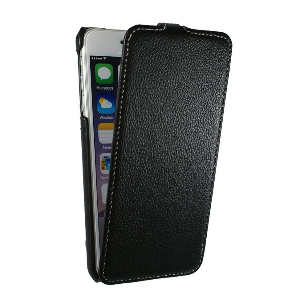Etui UltraSlim en simili cuir noir pour iPhone 6 Plus