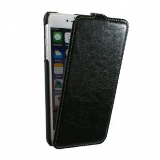 Etui UltraSlim en simili cuir noir nappa pour iPhone 6 Plus
