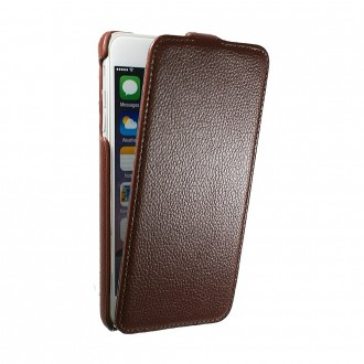 Etui UltraSlim en simili cuir Chocolat pour iPhone 6 Plus