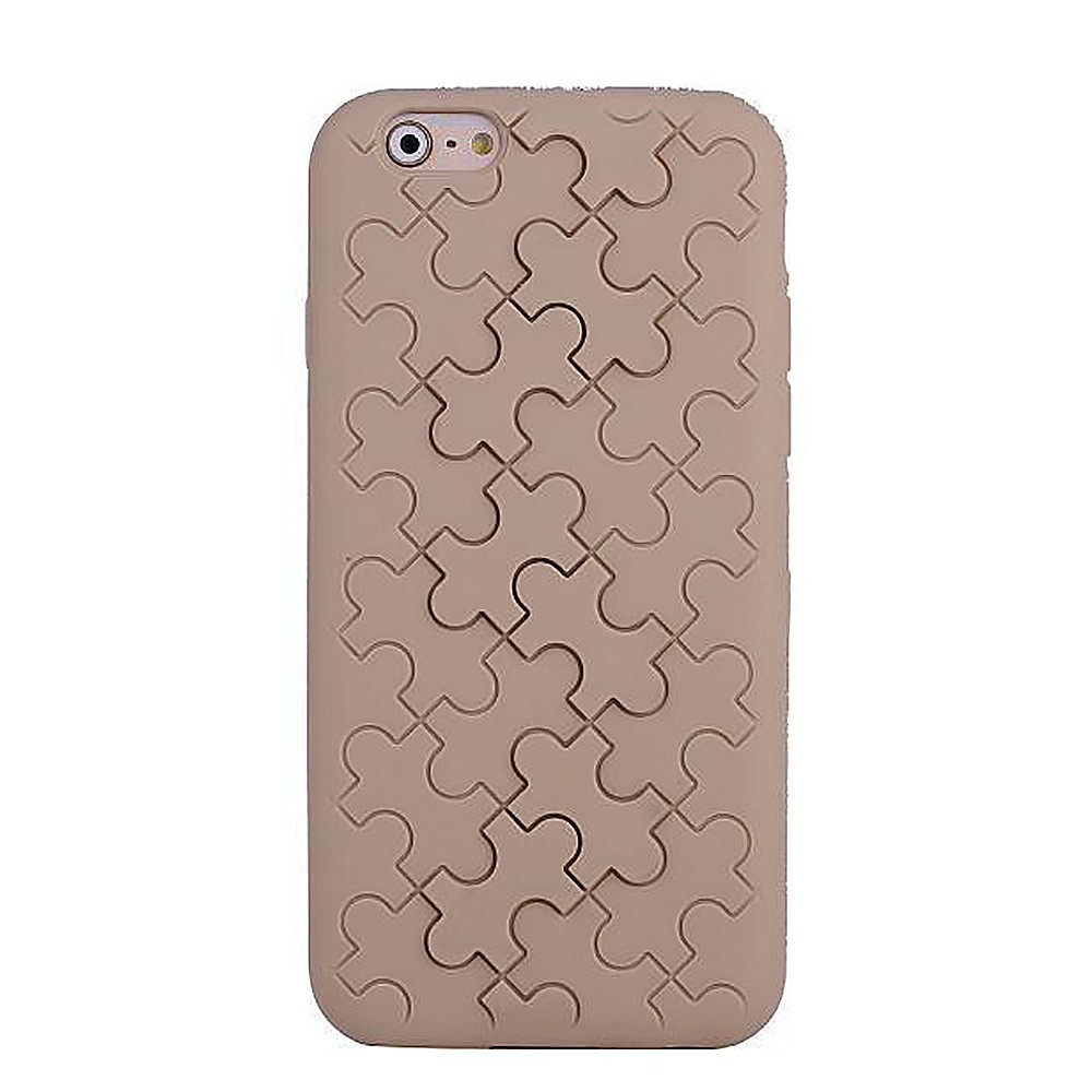 Coque silicone motif Puzzle Marron Clair iPhone 6 4.7