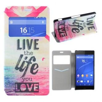 Etui Sony Xperia Z3 motif Live the Life
