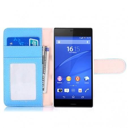 Etui Sony Xperia Z3 Mini Simili-cuir bleu clair