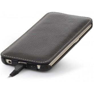 Samsung Galaxy S6 Edge en cuir véritable noir, UltraSlim