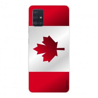 Coque pour Samsung Galaxy A51 Drapeau du Canada