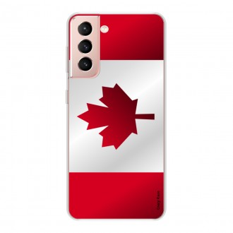 Coque pour Samsung Galaxy S21 5G Drapeau du Canada
