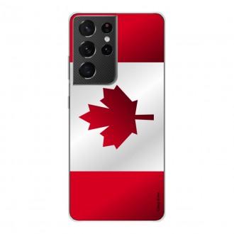Coque pour Samsung Galaxy S21 Ultra Drapeau du Canada