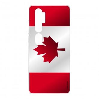Coque pour Xiaomi Mi Note 10 Pro en silicone souple, Drapeau du Canada
