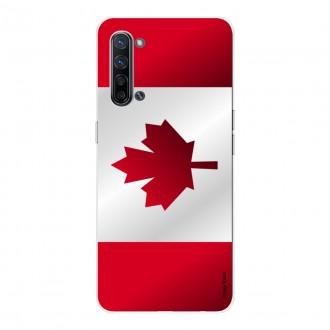 Coque pour Oppo Find X2 Lite en silicone souple Drapeau du Canada
