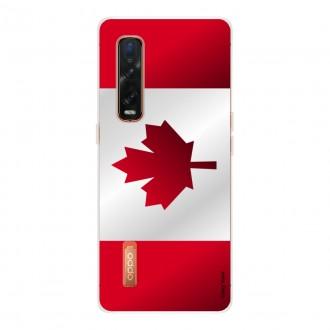 Coque pour Oppo Find X2 Pro en silicone souple Drapeau du Canada