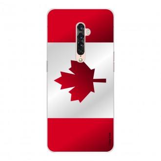 Coque pour Oppo Reno 2 en silicone Drapeau du Canada