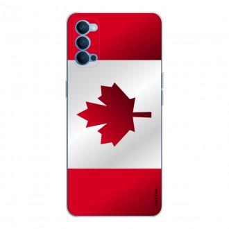 Coque pour Oppo Reno4 5G Drapeau du Canada