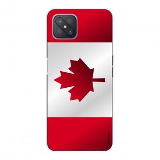 Coque pour Oppo Reno4 Z 5G Drapeau du Canada