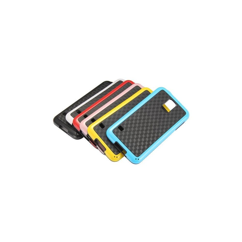 Coque Galaxy S5 motif 3D Cube noir contour rouge