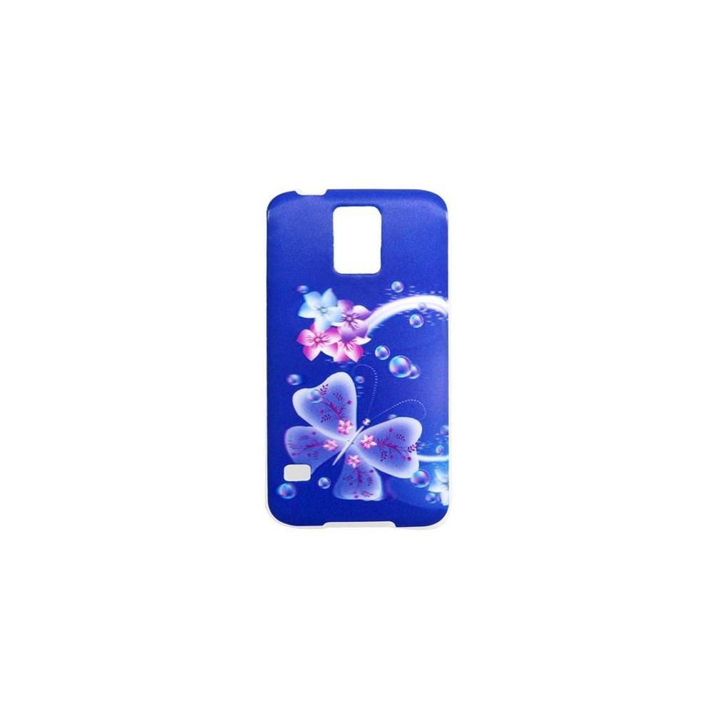 Coque Galaxy S5 effet 3D motif papillon et fleurs