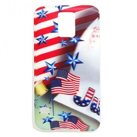 Coque Galaxy S5 effet 3D motif drapeaux USA