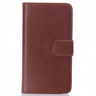 Etui Portefeuille Galaxy S5 simili-cuir marron