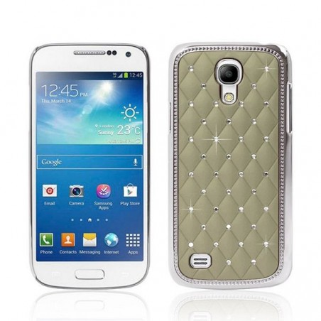 Coque Galaxy S4 Mini avec strass sur fond vert
