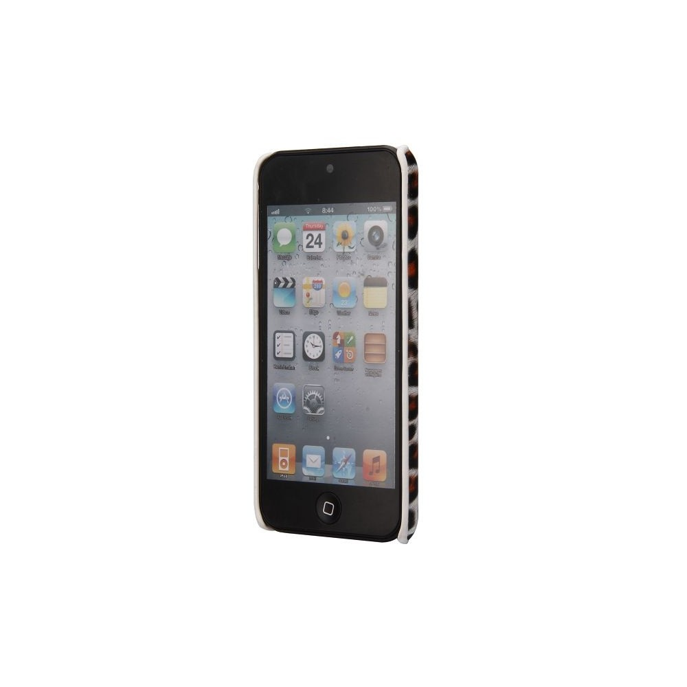 Coque plastique motif léopard blanc et orange pour Apple iPod Touch 5