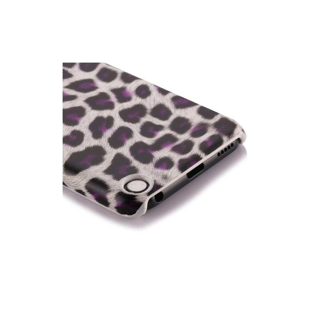 Coque plastique motif léopard blanc et violet pour Apple iPod Touch 5