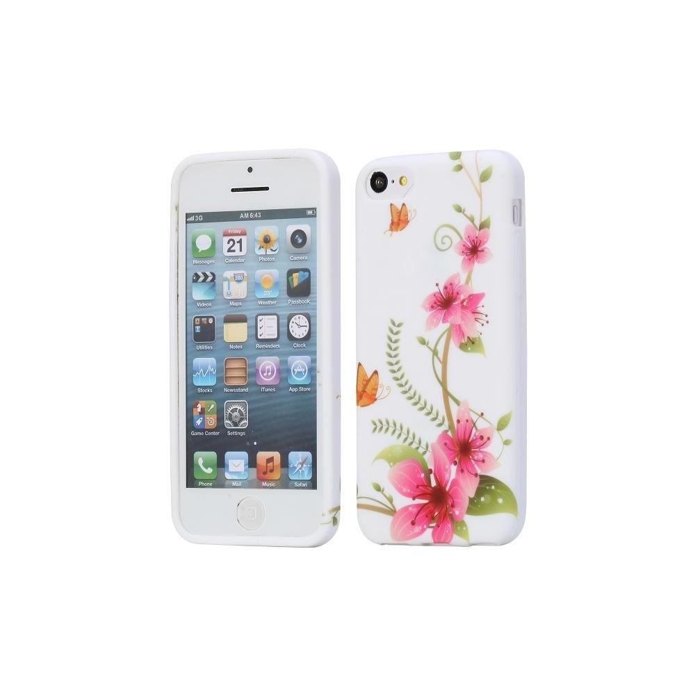 Coque pour iPhone 5C silicone motif floral