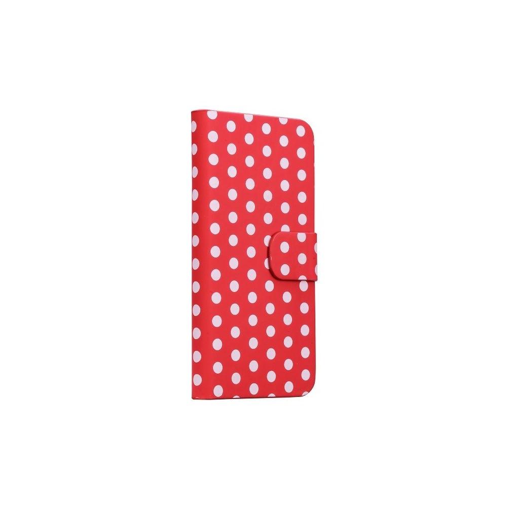 Etui cuir rouge à pois blanc ouverture horizontale pour Apple iPod Touch 5