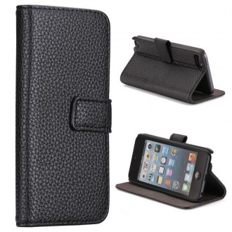 Etui iPod Touch 5 / Touch 6 noir ouverture horizontale support tv