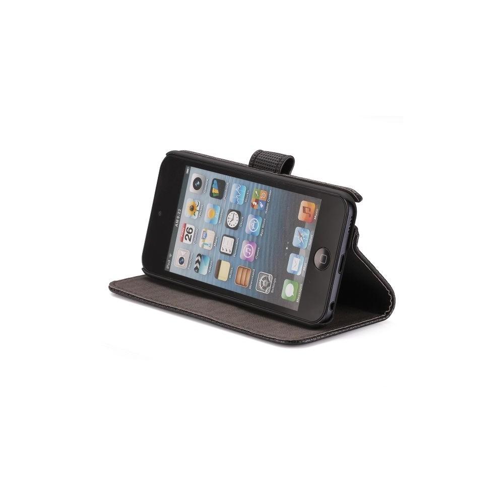 Etui iPod Touch 5 noir ouverture horizontale support tv