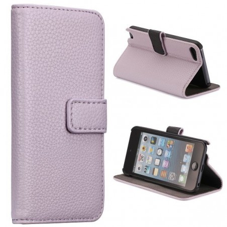 Etui iPod Touch 5 violet ouverture horizontale support tv