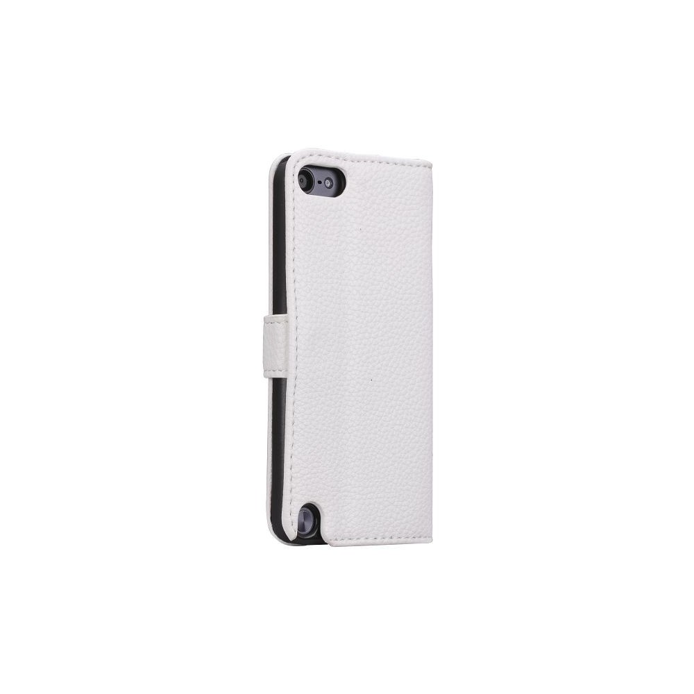 Etui iPod Touch 5 blanc ouverture horizontale support tv