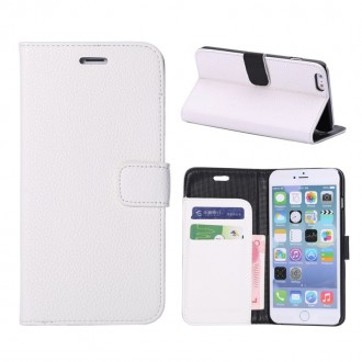 Etui porte feuille iPhone 6 Plus 5.5 avec porte carte blanc