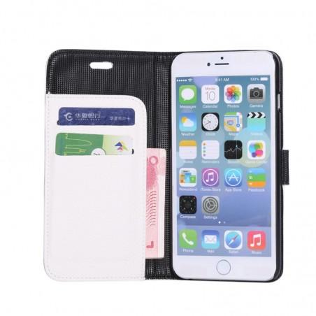 Etui porte feuille iPhone 6 Plus 5.5 avec porte carte blanc