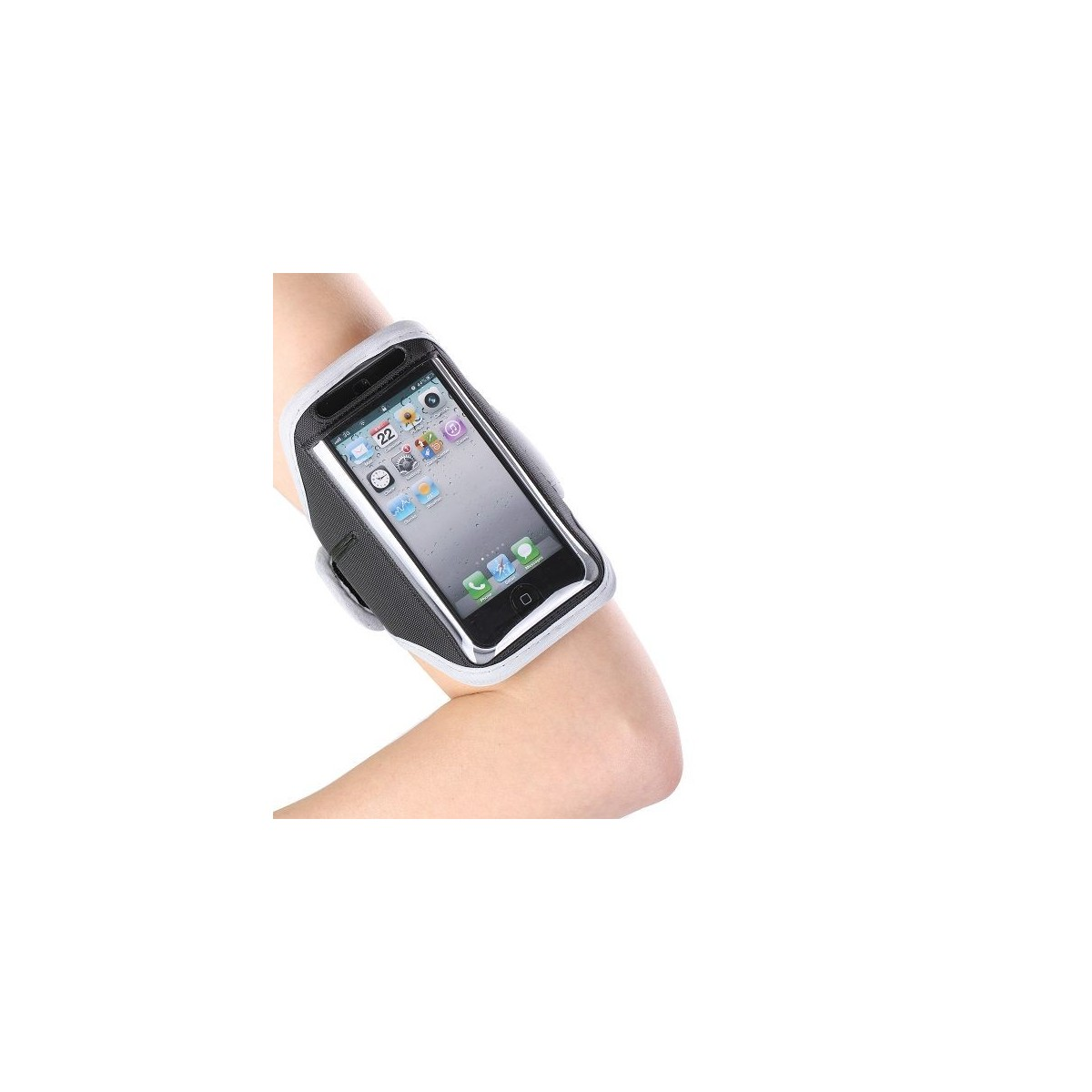 Brassard iPhone 5 / 5C / 5S contour gris