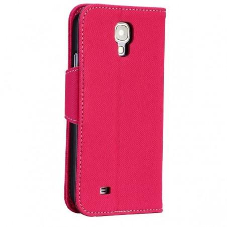 Etui simili-cuir rose avec support TV et porte carte pour Samsung Galaxy S4 i9500