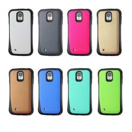 Coque Galaxy S4 bi-matière noire et bleu