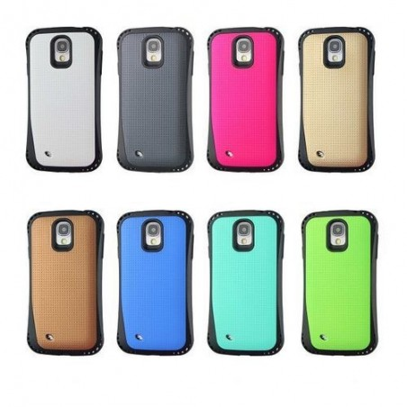 Coque Galaxy S4 bi-matière noire et verte