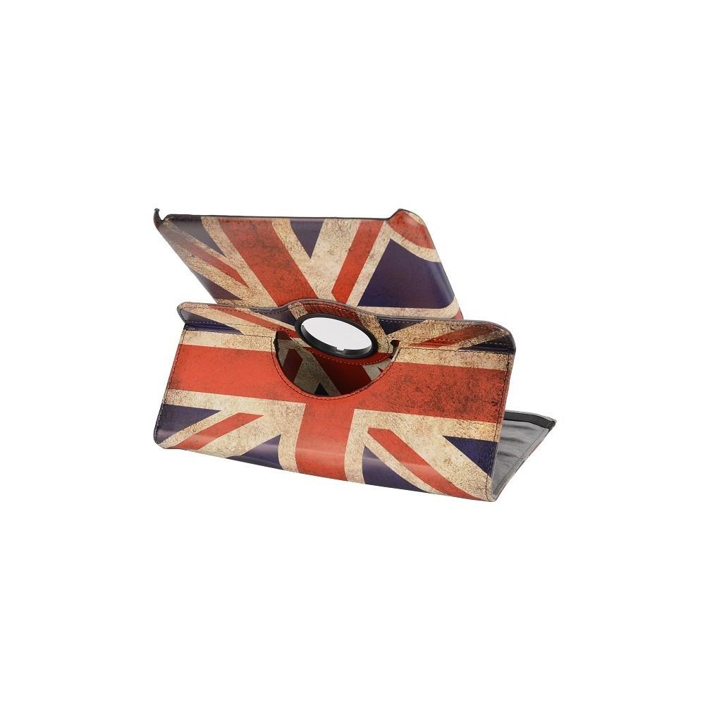 Etui Galaxy Tab 4 Rotatif 360° drapeau UK