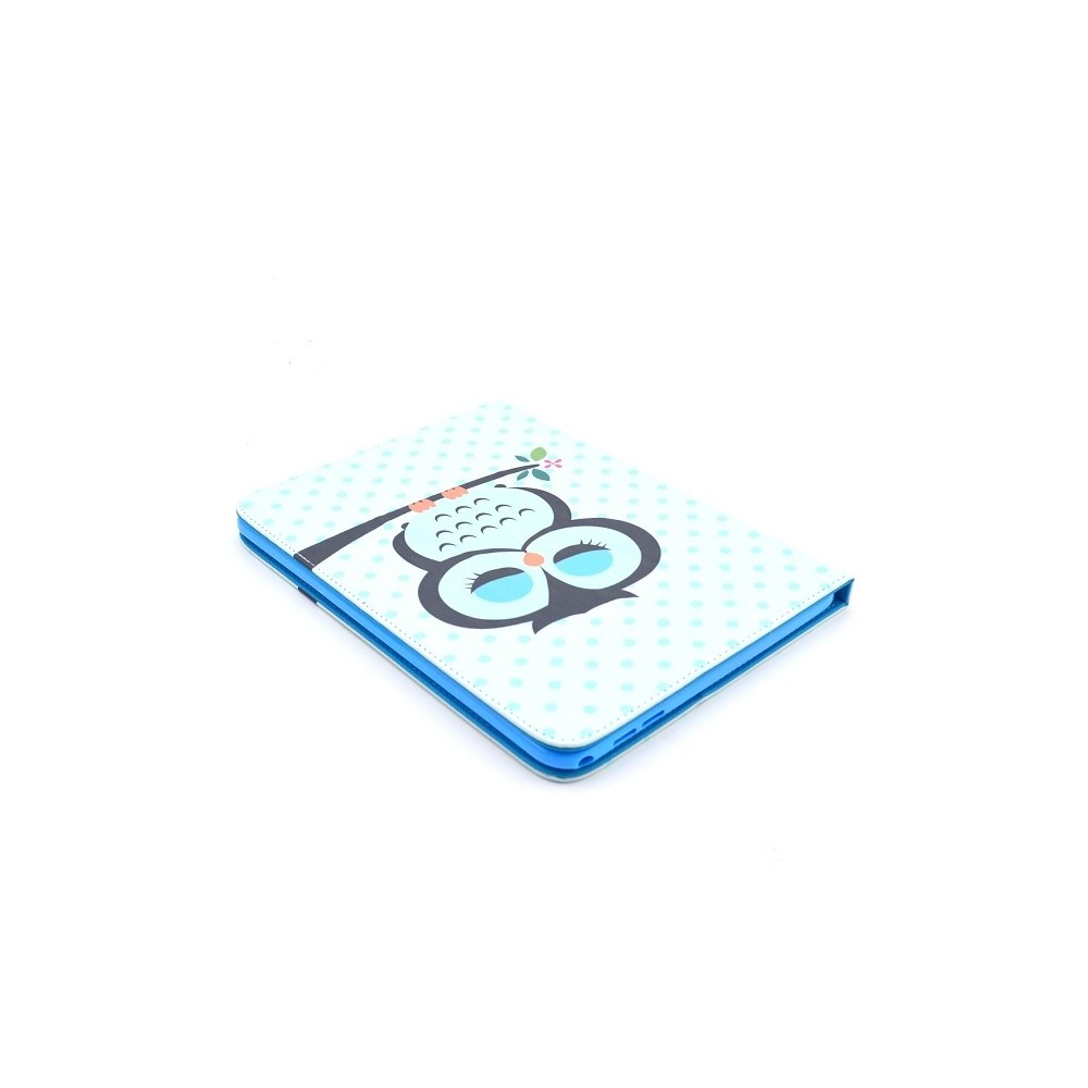 Etui Galaxy Tab 4 motif Chouette bleue