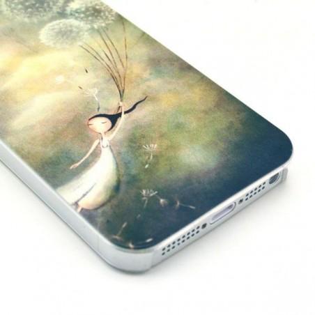 Coque modèle Pissenlit Fille pour iphone 5 / 5s
