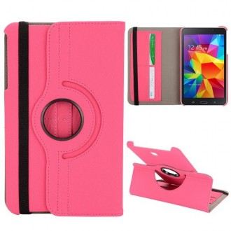 Etui Galaxy Tab 4 8.0 Rotatif 360° Simili-cuir Rose