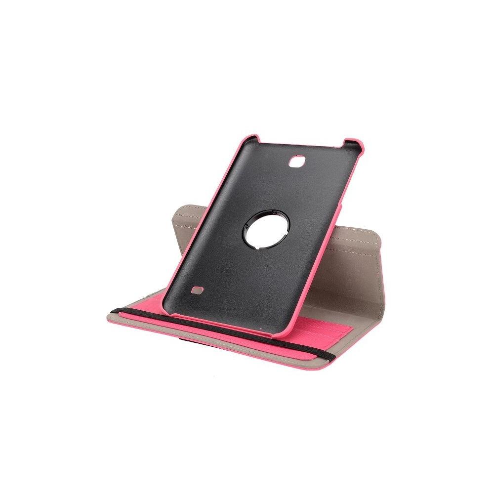 Etui Galaxy Tab 4 8.0 Rotatif 360° Simili-cuir Rose