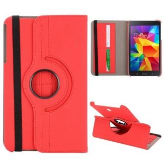 Etui Galaxy Tab 4 8.0 Rotatif 360° Simili-cuir Rouge