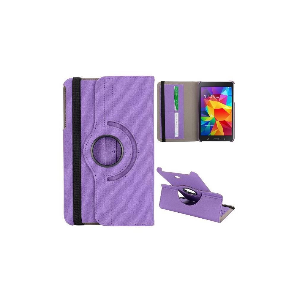 Etui Galaxy Tab 4 8.0 Rotatif 360° Simili-cuir Violet