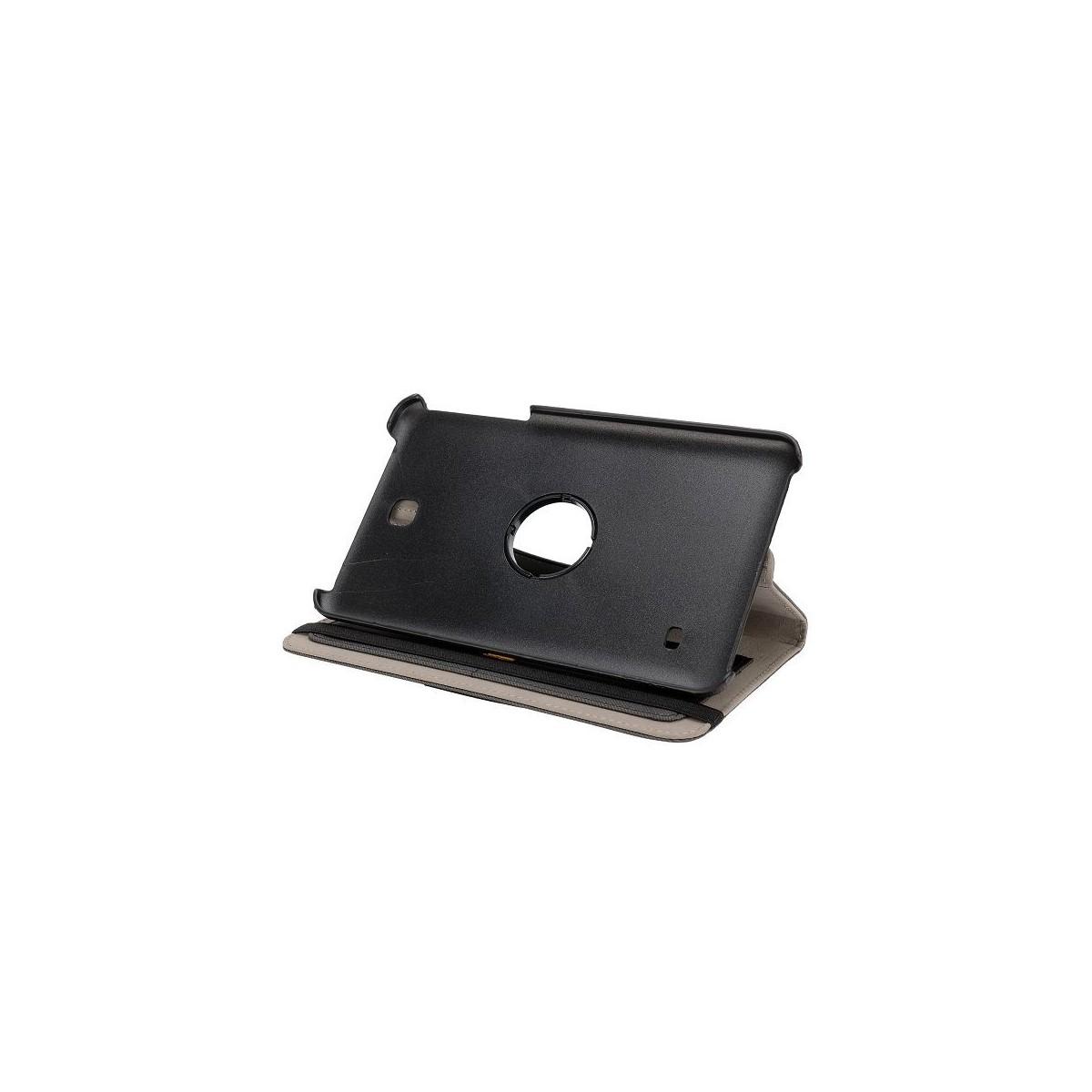 Etui Galaxy Tab 4 8.0 Rotatif 360° Simili-cuir Gris
